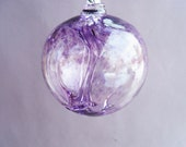 Hand Blown Glass Witch Ball/Ornament/Suncatcher,Art Glass,Hyacinth Color - Small Size