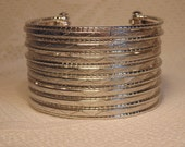 Modern Silver Cuff-Silver Jewelry-Silver Boho Bracelet-Silver Costume Jewelry-Wide Cuff-Wide Silver Cuff-Silver Boho Jewelry-Silver Bangle