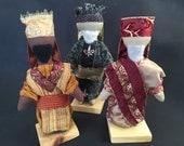Wise men trio for Engel Soft Sculpture Hands-on Nativity Set
