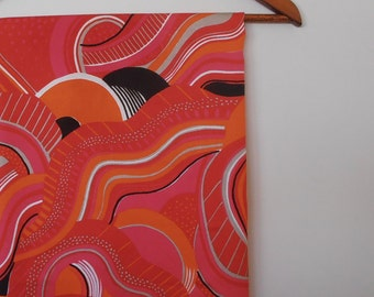 psychedelic...vintage fabric in bright colours