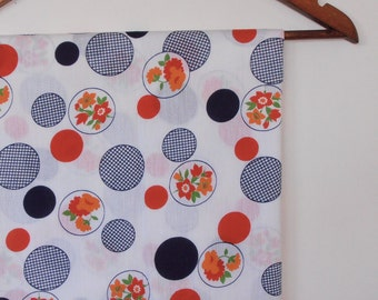 spots and flowers...vintage cotton cheesecloth
