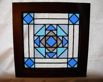 """Quilt Block window """"Glacier Bay"""""""