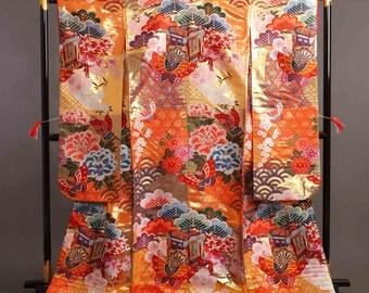 Custom listing for Manami Thank you:) Butterfly and flowers wedding KIMONO mermaid dress KIMONO sleeve bolero with matching cravat chief