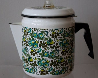 Floral Enamel Kettle/ Kitchen/ Boiling Water