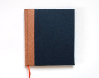 Diary, square Notebook, blank Poetry Album, journal , night blue copper, unlined notebook, gift for wife