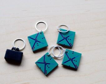 Portland Airport Carpet Stitch Markers - Set of Five