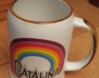 Vintage Catalina Island California Ceramic  Beer / Coffee  Cup Mug