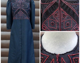 vintage, Indian, beaded dress, size Large