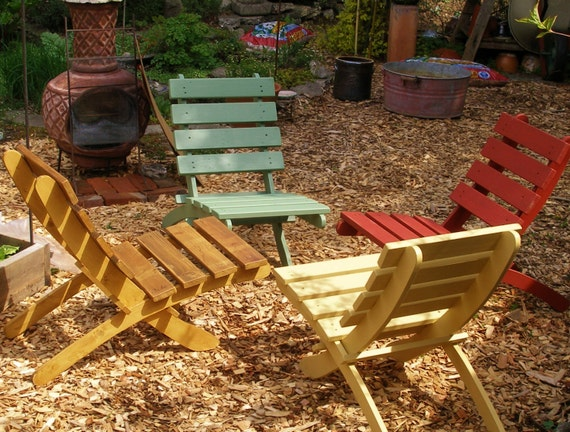 Great Outdoor Chairs Set of 4 fy Storable by