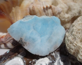 Larimar Slab #49 - Twin Flame Stone For Lovers