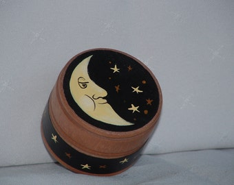Trinket boxes handpainted with moons & stars