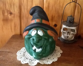 Free Ship Foam Witch Decoration Vintage Halloween Collectible 1989 Dan Dee