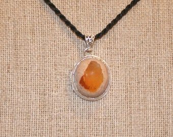 Round Mexican Fire Opal Pendant for Jewelry Design plus Free USA Shipping!