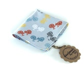 Grey Bikes Pocket Square - Bicycle Pocket Square - Novely - Hankerchief - Hanky - Grey, White, Orange, Yellow, Blue