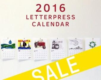2016 Letterpress Calendar