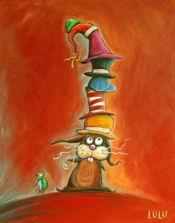 Many Hats (Original Acrylic Painting)