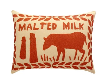 Chocolate Malted Milk Biscuit Printed Cushion / Biscuit Cushion - Cookie Pillow
