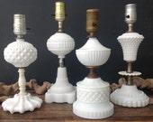 Vintage Milk Glass Lamp