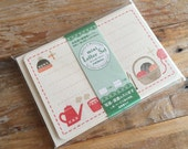 NEW- Japanese Mini Letter Set / Writing Paper Card with Envelopes - Cozy Winter for packaging, invitations, Message, Thank You card