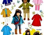 18 inch Doll Coat Pattern, 18 inch Doll Clothes Pattern, 18 inch Doll Jacket Pattern, Simplicity Sewing Pattern 3551