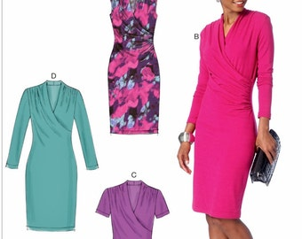 Stretch Knit Dress Pattern, Close-Fitting Dress Pattern, McCall's Sewing Pattern 7186