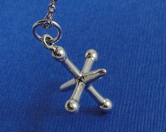 Toy Jack Charm - Sterling Silver Toy Jack Charm for Necklace or Bracelet
