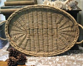 Wicker Vintage Basket - Wedding Basket - Prop Basket - Farmhouse Decor - Rustic Decor - Primitive Charm