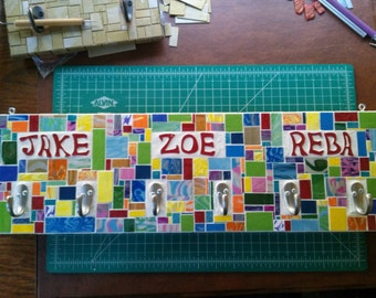 Wall Mosaic with Multiple Hooks and Personalized (EXAMPLE)