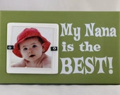 4X4 Picture Frame Wooden Block My Nana is the Best Oolong Tea White Photo Frame