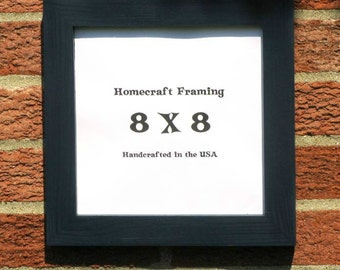 8X8 Picture Frame Primary Midnight Blue Country Primitive Wooden