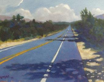 Ortega Highway Roadscape California Original Oil Painting