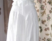 Vintage 70s White Camisole Top and Skirt Set - Cotton - Small
