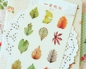 Autumn Leaves Cardlover cartoon deco stickers
