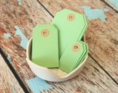 MINT Green handmade luggage tags