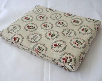 La BELLE FLEUR 3 yds French General Moda shabby quilt fabric cream red roses jardin Kaari Meng cottage chic 3 full yards 13631-16