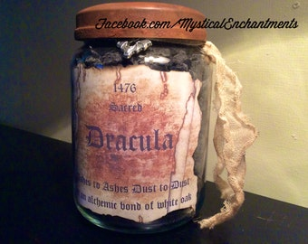 Dracula Vampire Ashes Apothecary Jar- Large 26 oz