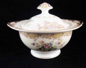 Vintage Meito China Sugar Bowl W/Lid Japan