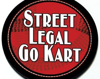 Street Legal Go Kart - Magnetic Grill Badge for MINI Cooper