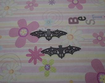 10pcs black color bat findings 56x19mm