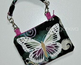 Insulated Insulin Pump Case Butterfly Pouch Wristlet Various Size Options Optional Shoulder Strap Belt Strap Diabetic Case