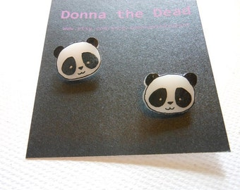 Panda stud earrings made to order