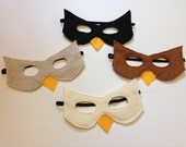 Children's Felt Bird Mask -Handmade, Kid's, Child's, Dress Up, Costume, Halloween, Owl