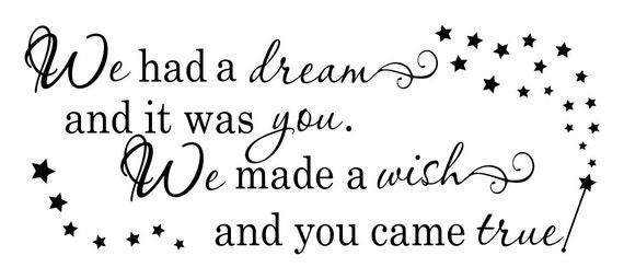 We Made A Wish And It Was You We Made: We Had A Dream And It Was You We Made A Wish And You Came True