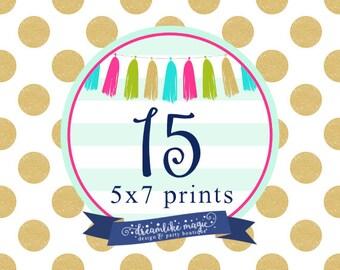15 Professionally Printed Invites with white envelopes, Printed Invites, Printed Invitations- Dreamlike Magic Designs