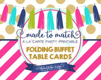 Made to Match Party Printable- Food Tent Design