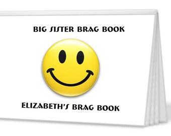 Smiley I'm The Big Brother or I'm The Big Sister Brag Book -  Photo Album - Big Brother Gift, Big Sister Gift  (PA7401)