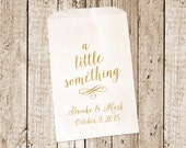 Gold Foil Printed Custom Favor bags/Candy bags/Candy Bar bags  25 count gold foil bags