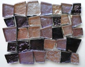 Lavender and Violet Reflective Glass Mosaic Puzzle Tiles//Mosaic Supplies//Crafts//Mosaic