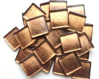 "15mm (3/5"") Gold Metallic Foil Backed Glass Mosaic Tiles//Mosaic//Mosaic Supplies//Crafts"