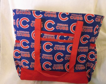 Chicago Cubs Tote, Diaper Bag, Carry On Bag